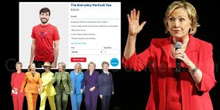 hillary clinton selling the everyday pantsuit tee on her website hillary clinton selling the everyday pantsuit tee on her