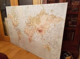 ikea large canvas wall map for in