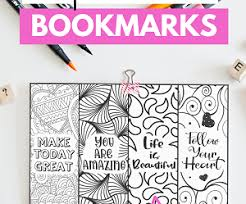 Definitely make sure you use heavy weight cardstock for these free printable coloring bookmarks. Printable Weekly Meal Planner Free Printable 7 Day Meal Planner