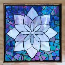 stained glass flowers kasia mosaics classes template flower design 2