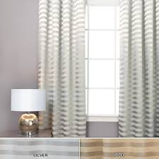luxury silver horizontal striped curtains plus modern table lamp and cozy windows