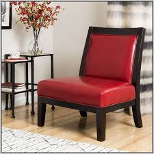 home goods red leather chair
