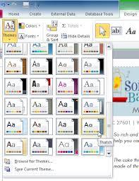 Access 2010 Advanced Report Options