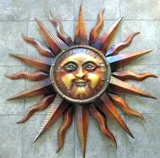 copper sun outdoor wall art copper sun wall art sun wall decor outstanding sun face metal