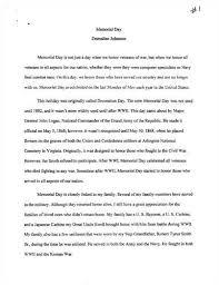 memorial day essay by kathlena peebles memorial day essay