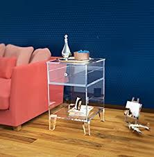 acrylic bedside table. Perfect Acrylic ONE LUX Clear Acrylic Nightstand With Drawer UnitLucite End Sofa Table To Bedside R