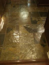 Kitchen Slate Floor Tiles Here Are Our Updated Kitchen Floor The Now Highly Glossed