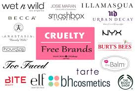 free brands makeup cosmetics not tested on s