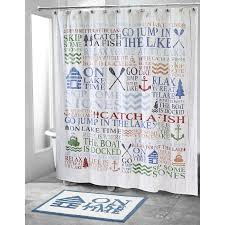 lake words shower curtain collection