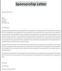 Request For Proposal Sample Letter Fresh Printable Sponsorship Amazing Format For Sponsorship Letter