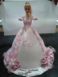Barbie Cake Eggless