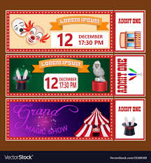 Circus Show Tickets Templates With Sample Text
