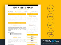 Homer Simple Modern Resume Template Resumgocom