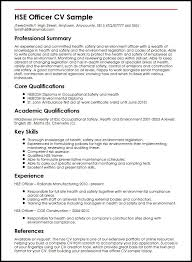 Resume Complete Hse Officer Cv Sample Myperfectcv