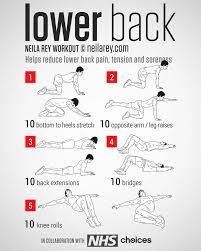 Lower Back Exercise Chart Lower Back Exercises Fitness