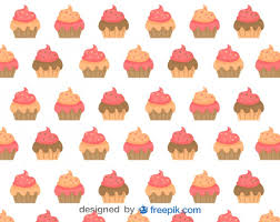 Cupcakes Background Vector Free Download