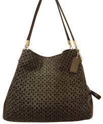 Coach Refurbished Monogram Jacquard Extra-large - Hobo Bag ...
