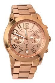 chisholm hunter michael kors rose gold tone bracelet watch
