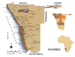 Namibia Distance Chart Full Political Map Of Namibia Namibia Full Political Map