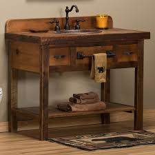 Ideas Perfect Small Rustic Bathroom Vanity Intended For Cabinet With