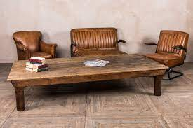 large vintage coffee table low wooden