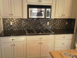 modern glass backsplash kitchen