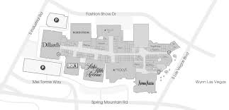 Fashion Show Las Vegas Map