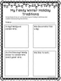 family traditions kinderland collaborative  i created these forms to help students record their family traditions around the holidays there