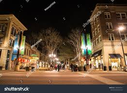 Pearl Street Lights Boulder Colorado April 27 2018 Night Stock Photo Edit Now