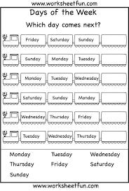 Calendar Worksheets Kindergarten Worksheets for all   Download and ...
