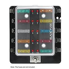 amazon com kkmoon dc 12v 10 way blade fuse box holder with led 12 volt fuse holder at Fuse Box 12v