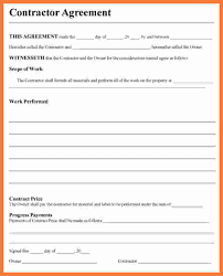 Simple Contractor Agreement Template Free Contractor Agreement Template Template Business