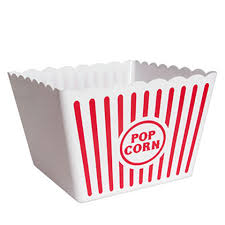 Decorative Popcorn Boxes Bulk Large Plastic Popcorn Tubs 6060 in wide at DollarTree 55