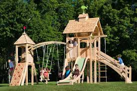 cedarworks eco friendly outdoor playsets fit every space and budget