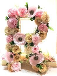 flower wall decor fl letter large paper letter blush gold paper flower letter fl wall decor baby shower fl letter nursery decor