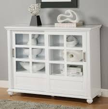 classy white stained oak wood bookshelf cabinet with glass sliding doors as well as