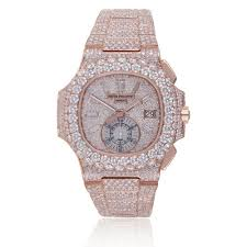 5980 Nautilus Rose Shyne - Custom Philippe Patek Watch Diamond Men's Jewelers Gold