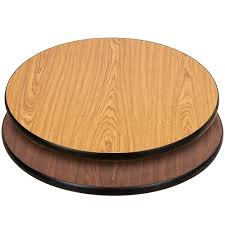 lancaster table seating 30 inch laminated round table top reversible walnut