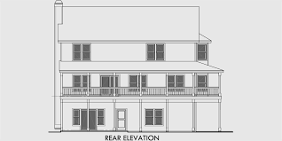 house front drawing elevation view for 9924 5 bedroom house plans farm house plans