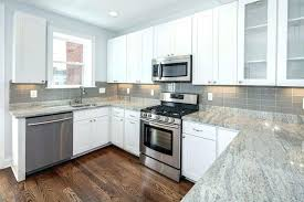 simple quartz with white cabinets door beautiful idea intended grey s and gray countertops shaker kitchen