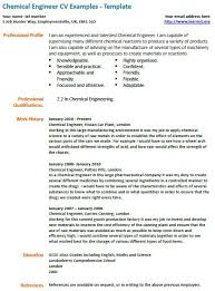 Chemical Engineer Resume Examples Example Resumes Engineering
