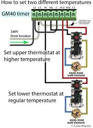 how to wire water heater thermostats change water heater temperature using timer