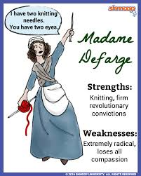 madame defarge in a tale of two cities character analysis