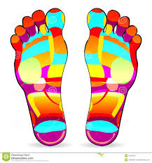 Thai Foot Reflexology Chart Foot Massage Stock Vector Illustration Of Colorful Ancient