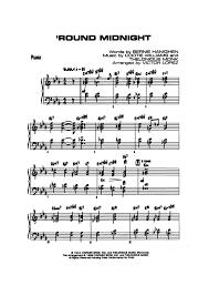 Round Midnight Chart Round Midnight Piano Accompaniment