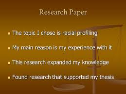 racial profiling vs human rights human rights alvaro omar larrama  2 research paper the topic i chose is racial profiling