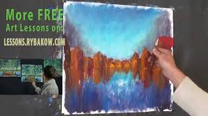 how to oil paint village on water free oil painting lesson free art lessons