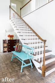staircase makeover on a budget and painting staircase baers