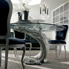 round glass pedestal dining table antique finish silver italian pedestal round glass dining table