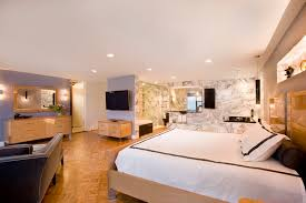 Large Master Bedroom Ideas with Wallpaper Decoration